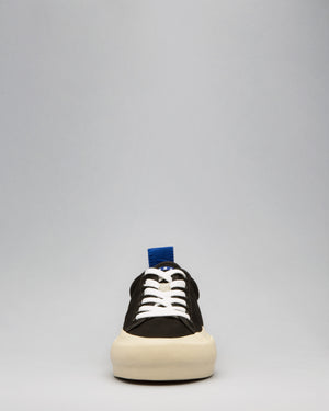 CANVAS LOW WRAP TOE <br/>Black/Off White/OBRA Blue