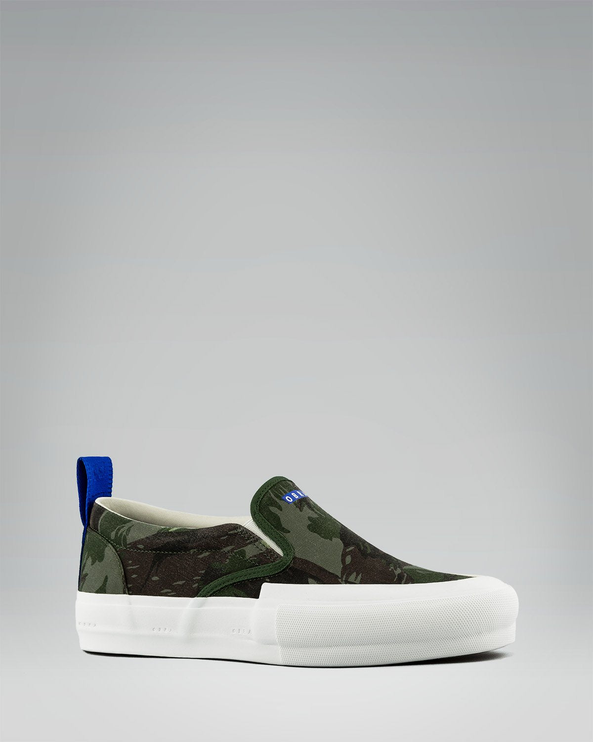 240 CANVAS SLIP-ON WRAP TOE <br/> Exercito/White/OBRA Blue