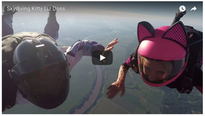 Skydiving Kitty Liz D. hits 150mph