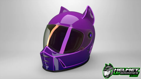 Cat Ear Racer Upgrade on Biltwell LaneSplitter Helmet