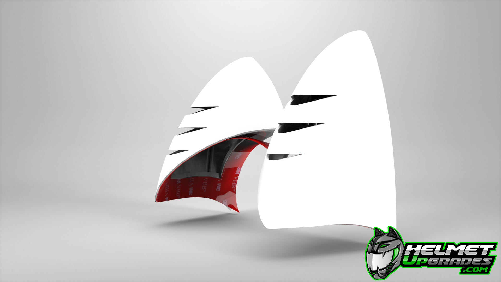 Cat Ear Helmet Upgrade: WHITE | Easy Peel-and-Stick Helmet Accessory with 5 Colored Decals included