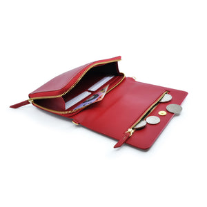 Taku_and_Grace_Leather_Convertible_clutch_bag_oxblood_open_view