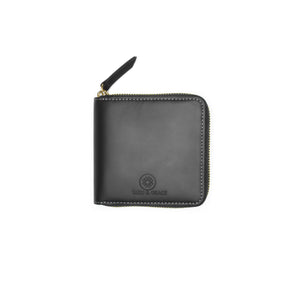 Taku_and_Grace_Leather_Zip_Wallet_Miyake_black_front_view
