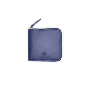 Taku_and_Grace_Leather_Zip_Wallet_Miyake_blueprint_navy_front_view