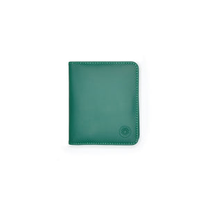 Taku_and_grace_leather_wallets_sato_card_slip_bifold_evergreen_front-view