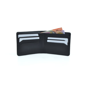 Taku_and_Grace_Leather_Wallet_Haru_Bifold_Black_open_view