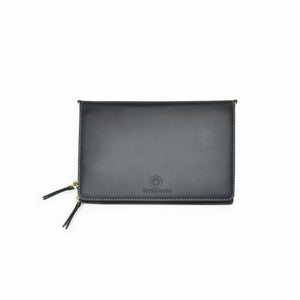 Taku_and_Grace_Leather_Convertible_clutch_bag_black_open_view
