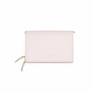 Taku_and_Grace_Leather_Convertible_clutch_bag_rosewater_open_view