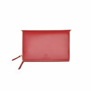 Taku_and_Grace_Leather_Convertible_clutch_bag_oxblood_front_view