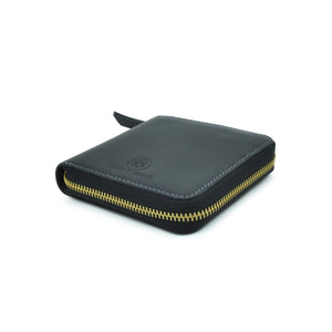 Taku_and_Grace_Leather_Zip_Wallet_Miyake_black_side_view