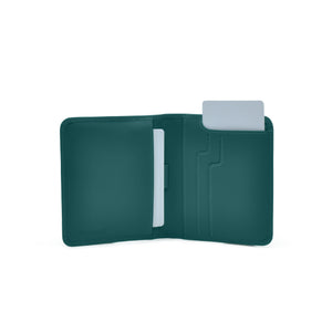 Taku_and_grace_leather_wallets_sato_card_slip_bifold_evergreen_open_view