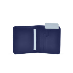 Taku_and_grace_leather_wallets_sato_card_slip_bifold_blueprint_navy_open_view