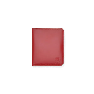 Taku_and_grace_leather_wallets_sato_card_slip_bifold_oxblood_front_view