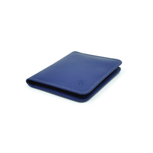Taku_and_grace_leather_wallets_sato_card_slip_bifold_blueprint_navy_side_view