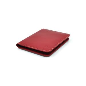 Taku_and_grace_leather_wallets_sato_card_slip_bifold_oxblood_side_view