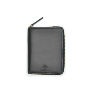 Taku_and_grace_leather_travel_zip_wallet_Yama_black_front