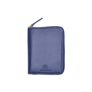 Taku_and_grace_leather_travel_zip_wallet_Yama_blueprint_navy_front