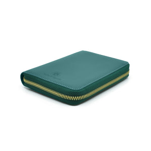 Taku_and_grace_leather_travel_zip_wallet_Yama_evergreen_side