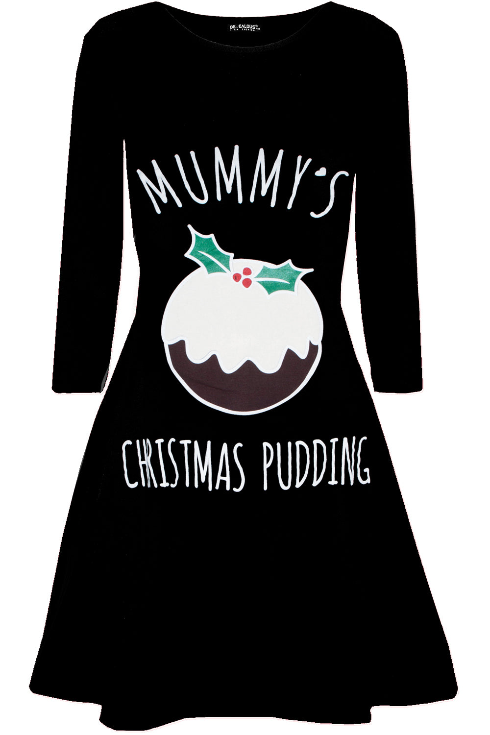 Mummy's Christmas Pudding Maternity Dress - bejealous-com