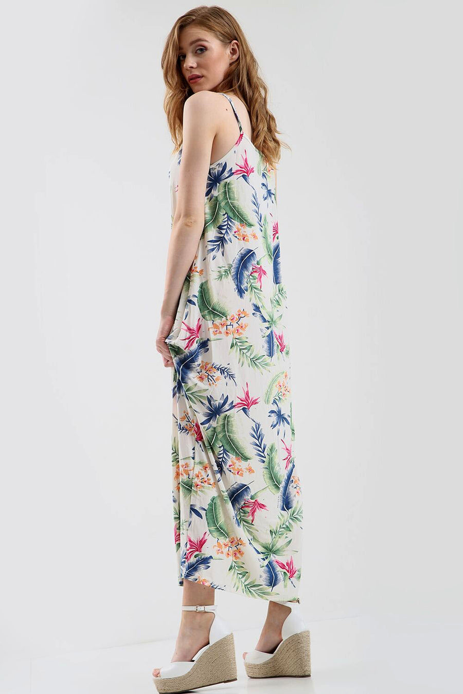 Cami Floral Print Loose Fit Maxi Dress - bejealous-com