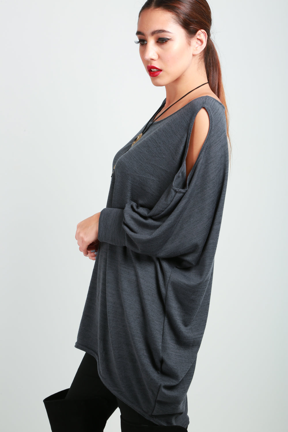 Sofia Cold Cut Shoulder Jumper Dress - bejealous-com