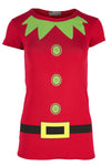 Christmas Elf Costume Short Sleeve Tshirt