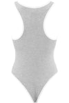 Basic Jersey Grey Racer Back Bodysuit - bejealous-com