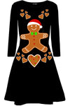 Long Sleeve Gingerbread Christmas Dress - bejealous-com