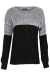 Darci Colour Block Baggy  Knitted Jumper