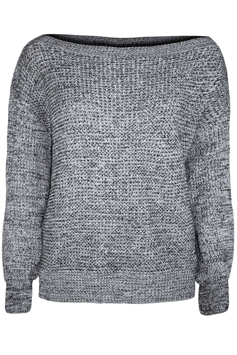 Off Shoulder Baggy Knitted Jumper