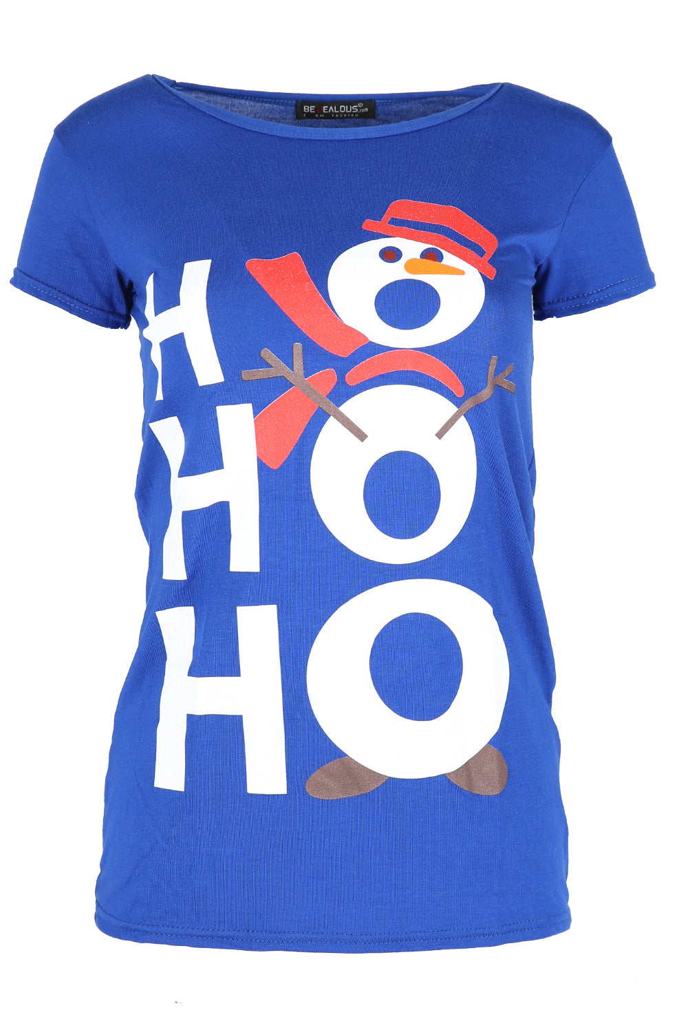 'Hohoho' Snowman Print Red Xmas Top