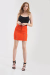 High Waist Black Denim Ripped Mini Skirt - bejealous-com