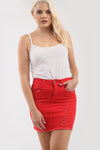 Leona High Waist Ripped Denim Mini Skirt - bejealous-com