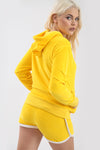 Mustard Faux Velvet Hooded Coord Lounge Set - bejealous-com