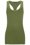 Ella Plain Muscle Racer Back Vest Top