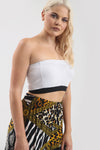 Basic Jersey Monochrome Bandeau Crop Top - bejealous-com