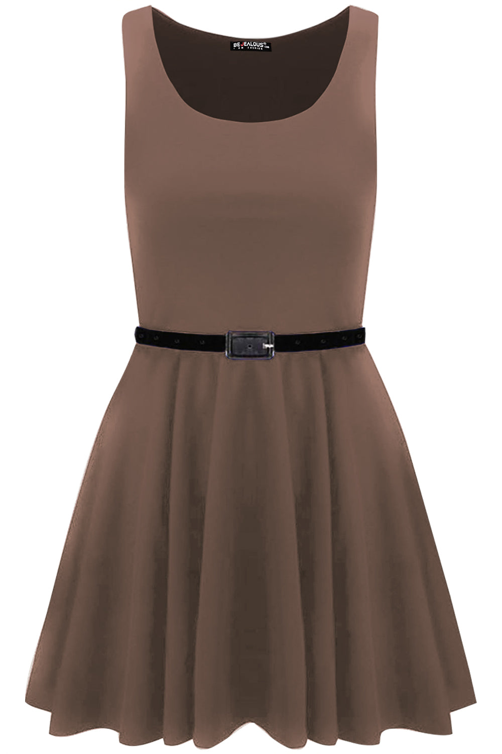 Lily Belted Sleeveless Franki Skater Dress