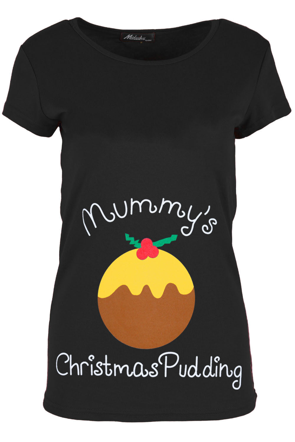 Mummys Christmas Pudding Maternity Tshirt