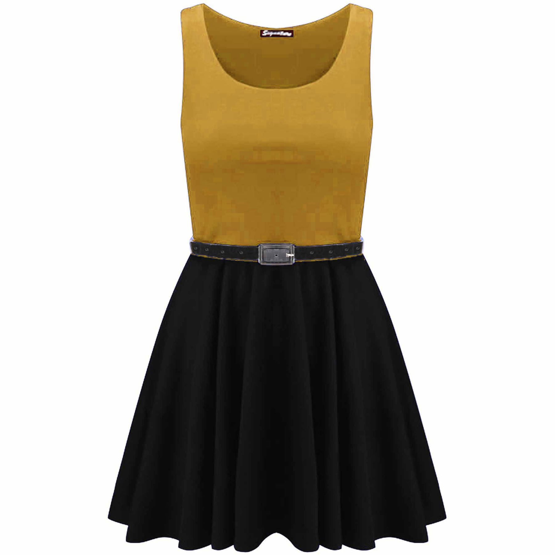Ilizia Colour Block Sleeveless Skater Dress
