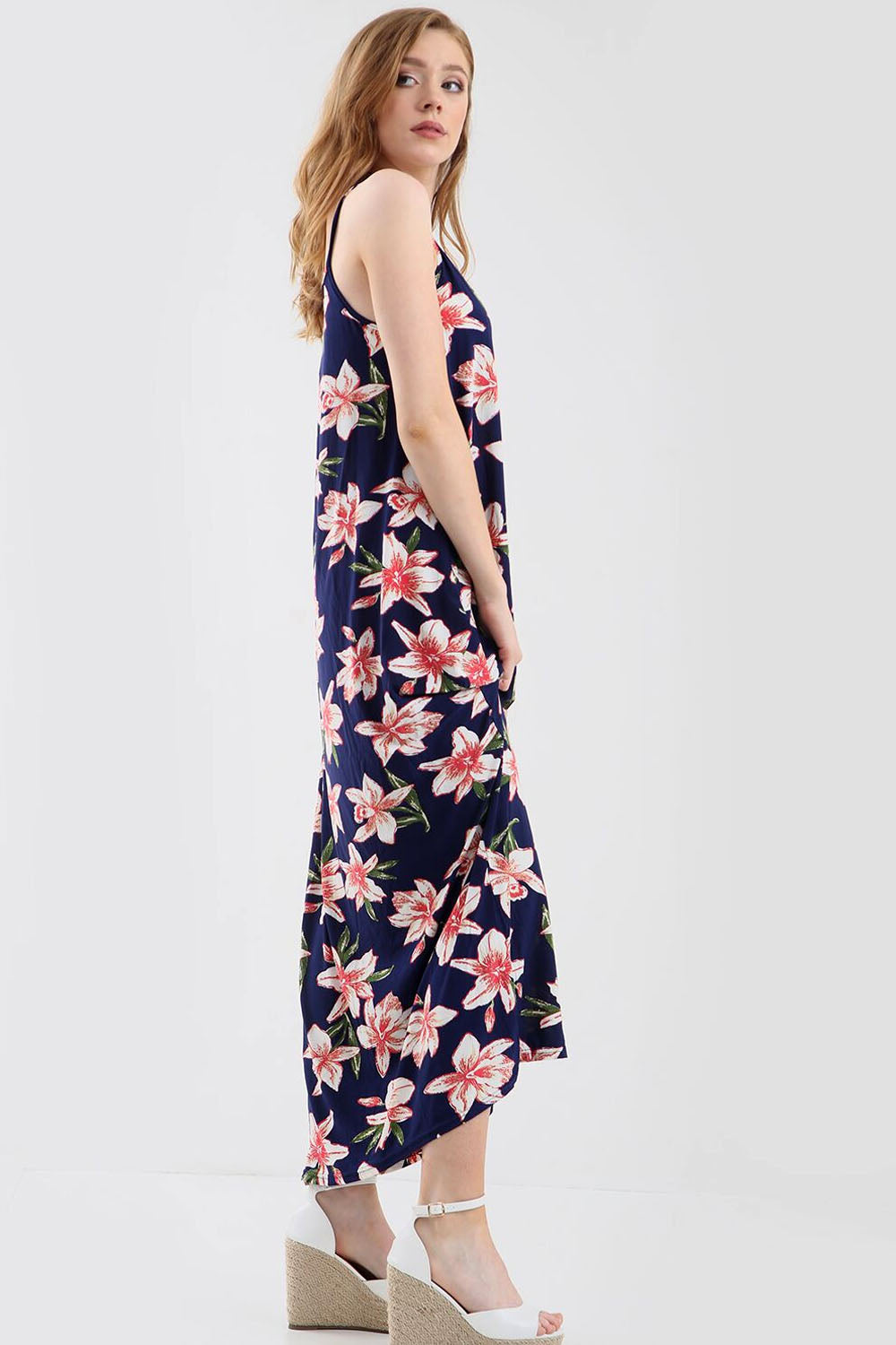 Cami Floral Print Floaty Strappy Maxi Dress - bejealous-com
