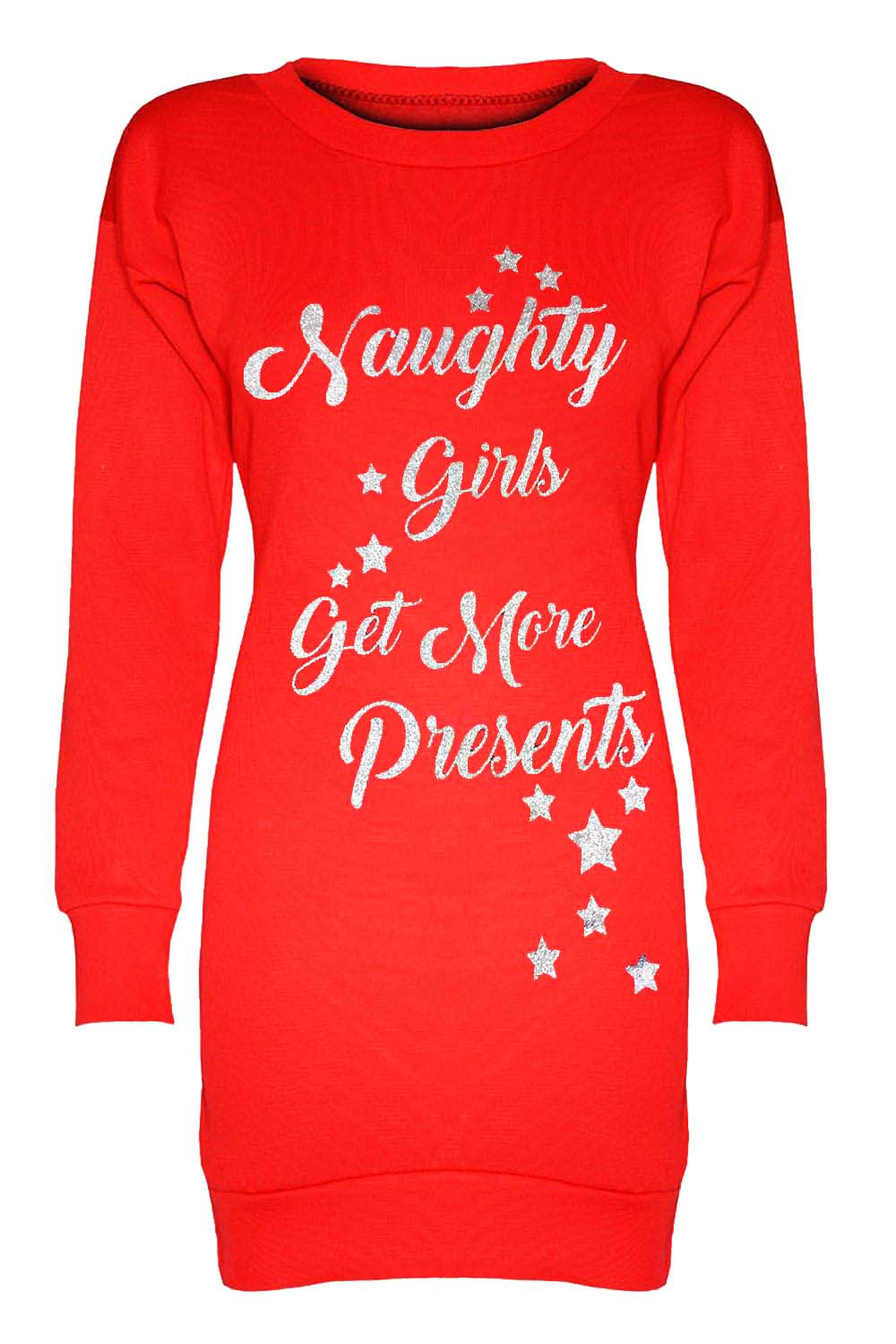Naughty Or Nice Slogan Christmas Jumper