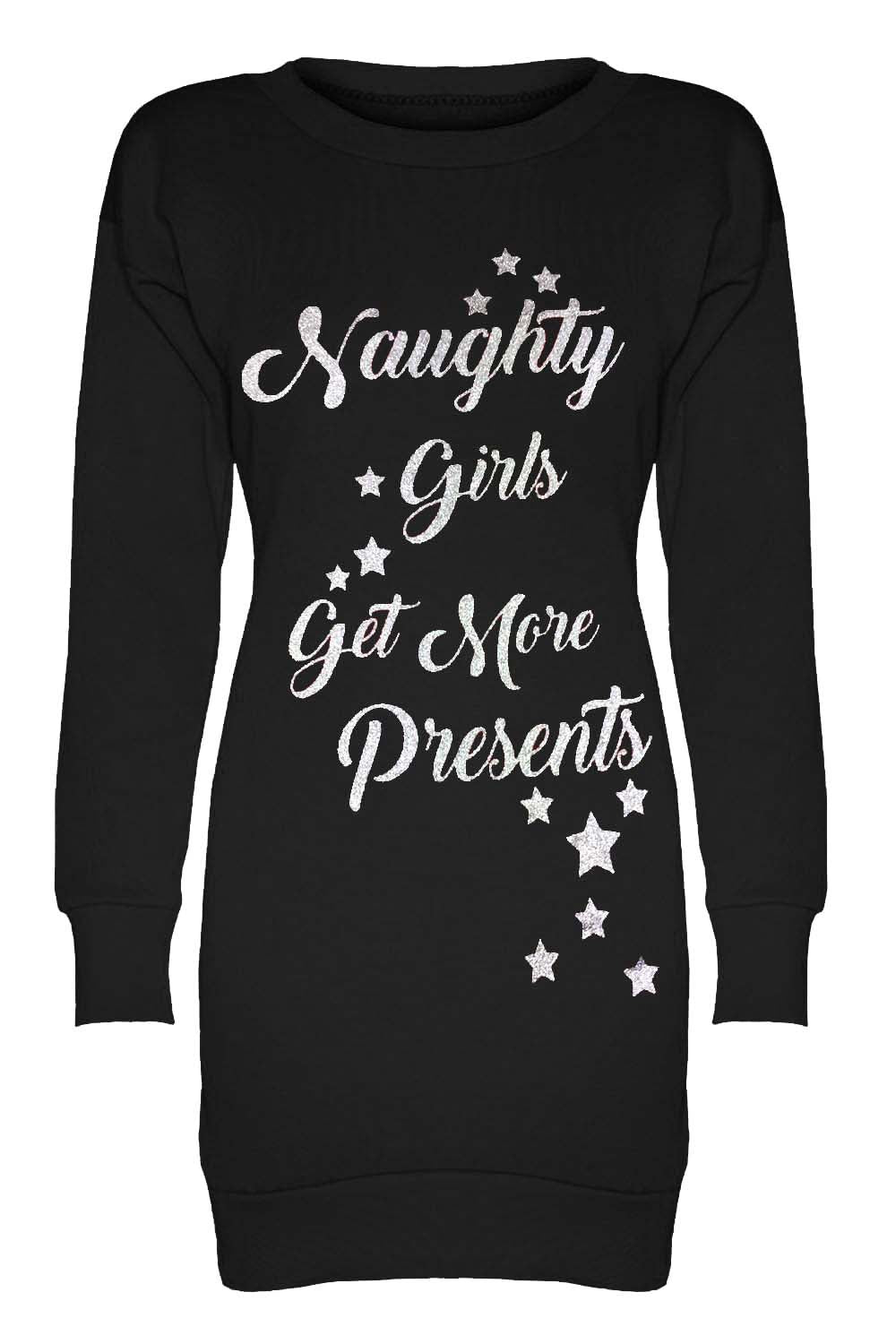 Naughty Or Nice Slogan Christmas Jumper - bejealous-com