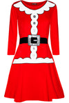 Long Sleeve Mrs Clause Christmas Dress