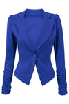 Lily 6 Buttons Ruched Long Sleeve Jacket Blazer