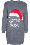 Santa Baby Slogan Print Jumper Dress - bejealous-com
