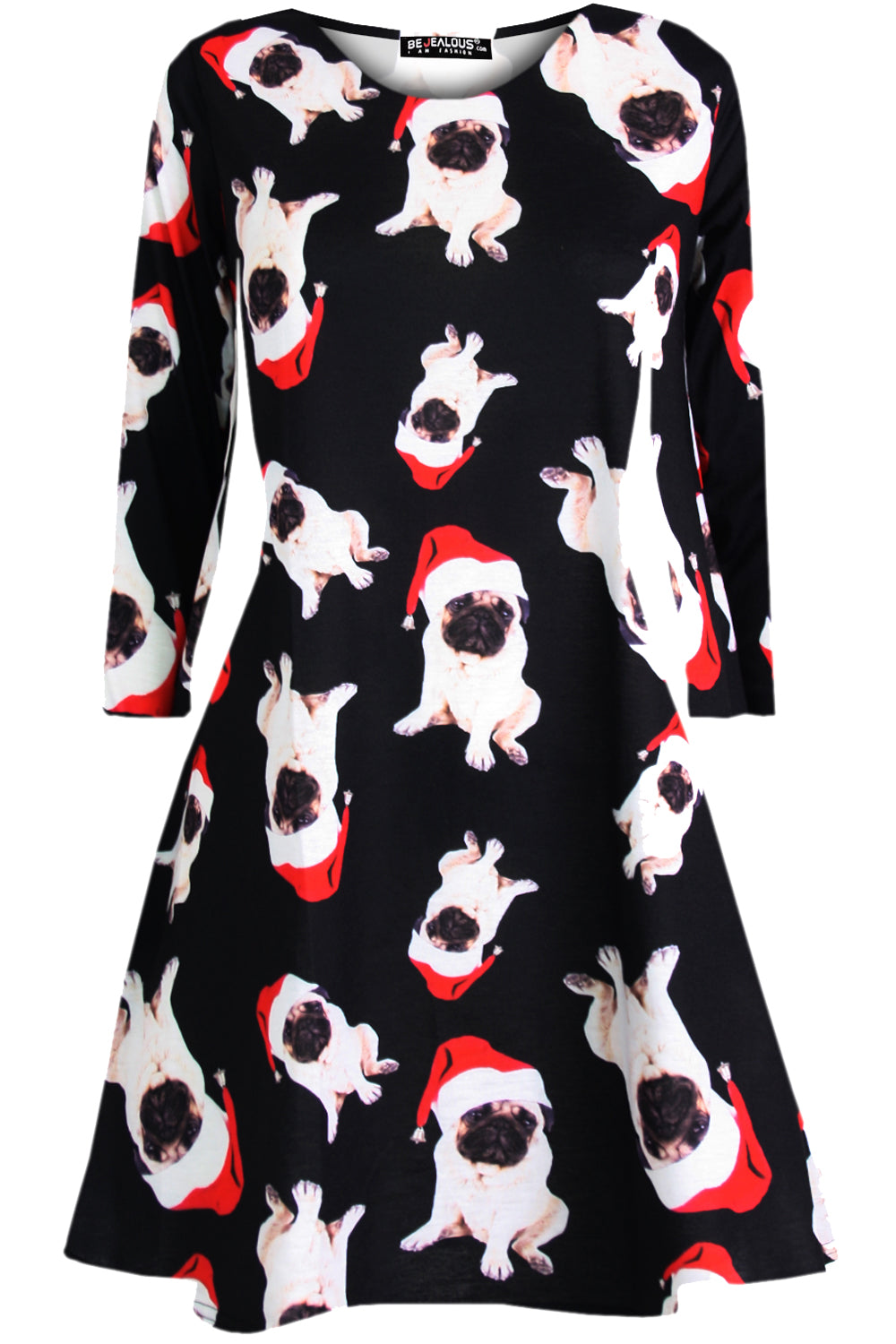 Ruby Long Sleeve Christmas Print Dress