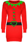 Long Sleeve Christmas Elf Jumper Dress - bejealous-com
