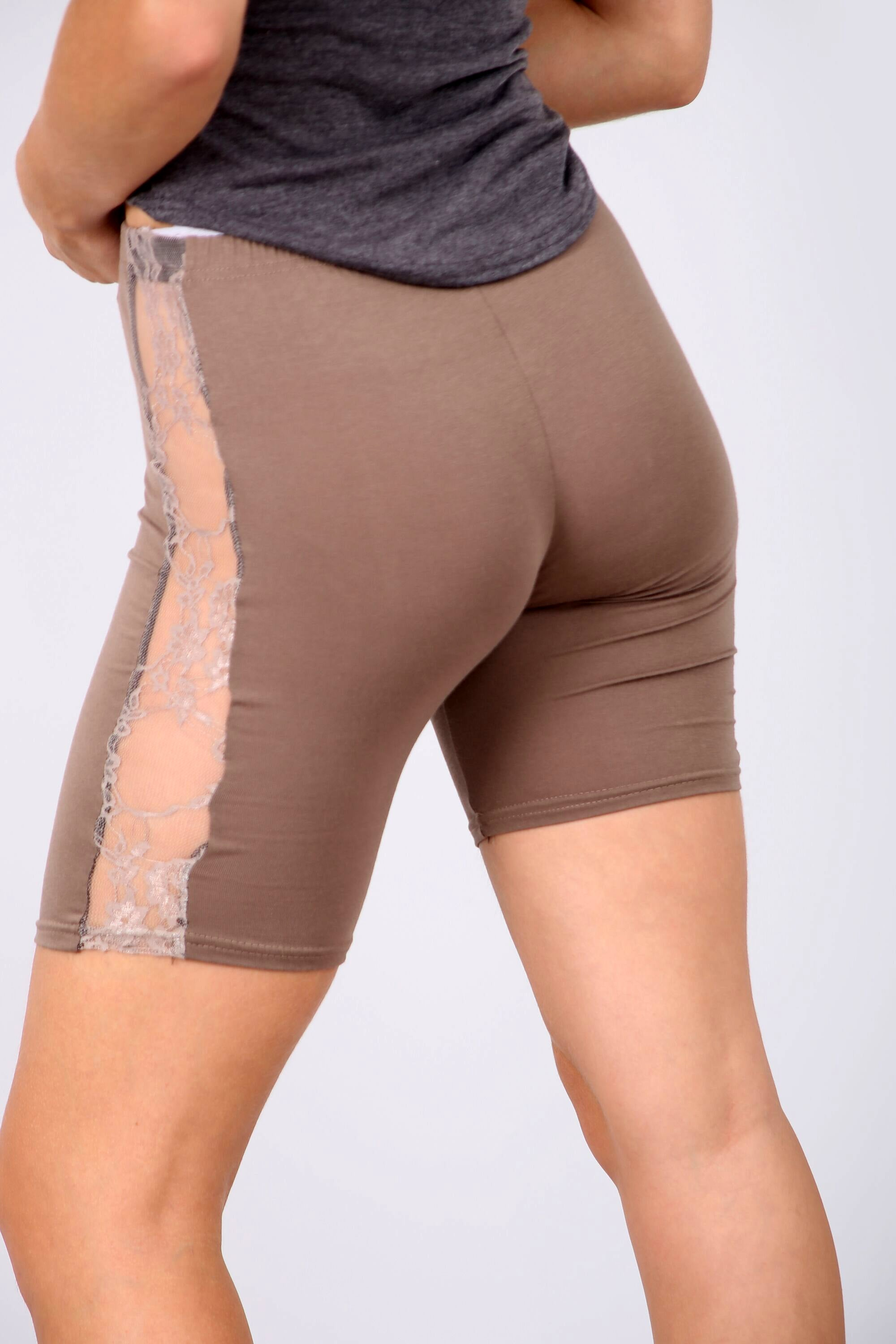 Stone Lace Insert Basic Jersey Cycling Shorts - bejealous-com