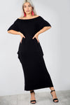 Bardot Basic Jersey Black Slinky Maxi Dress - bejealous-com