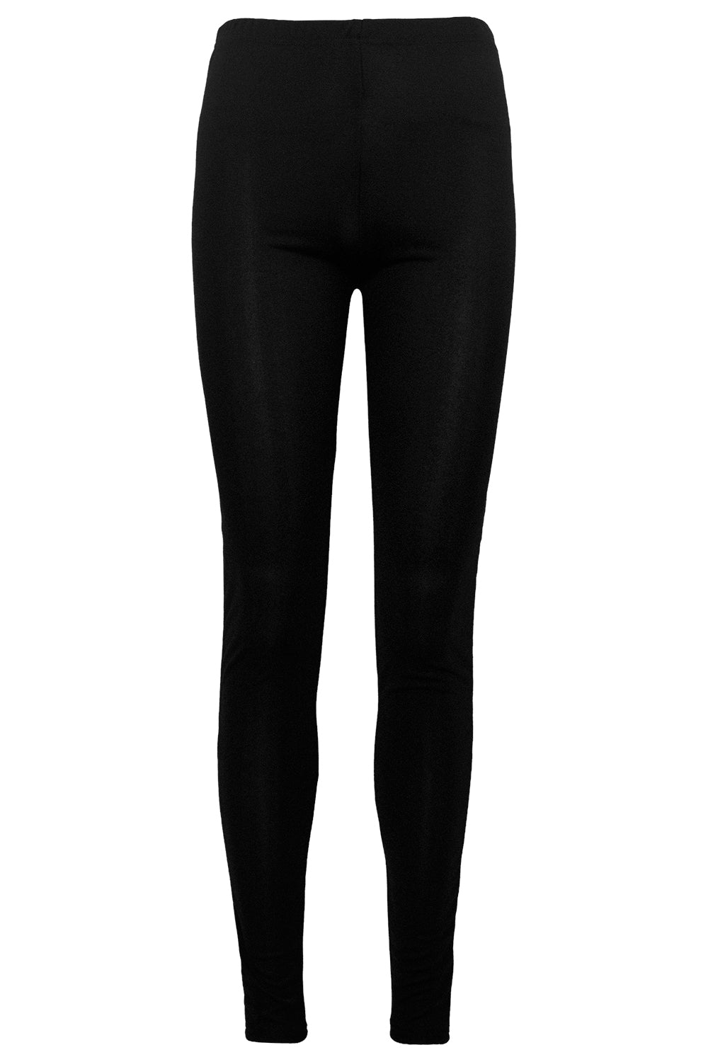 High Waist Basic Crepe Black Leggings - bejealous-com